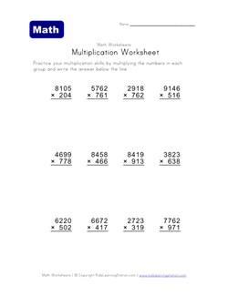 math worksheet : multiple digit multiplication worksheets  kids learning station : Multiple Digit Multiplication Worksheets