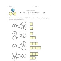 easy number bond worksheet