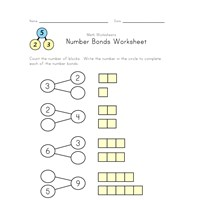 simple number bonds worksheet