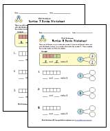 1st grade number bonds worksheets