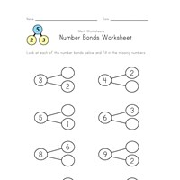 number bonds 2 though 9 worksheet 2