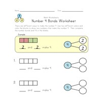 number 4 bonds worksheet