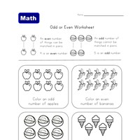 even and odd worksheet