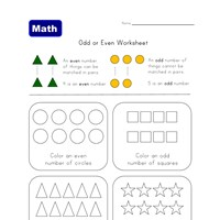 odd and even shapes worksheet