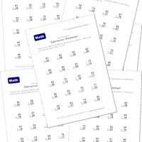 subtraction worksheets with borrowing