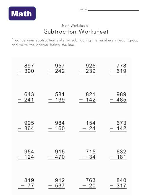Sample Subtraction Across Zeros Worksheet- 10  Documents in Word, PDF