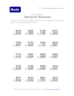 math worksheet : math help  subtraction worksheets  kids learning station : 3 Digit Subtraction With Regrouping Across Zeros Worksheets
