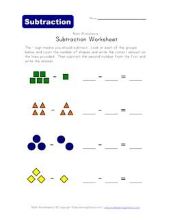 math worksheet : picture subtraction worksheets  kids learning station : Subtraction Worksheet With Pictures