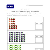 tens ones grouping worksheet