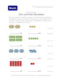 math worksheet : 10 excellent free place value worksheets  kids learning station : Math Tens And Ones Worksheets