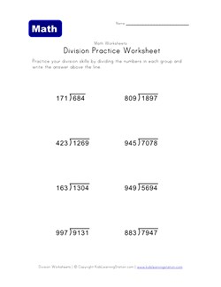math worksheet : long division worksheets  kids learning station : Division Worksheets 100 Problems