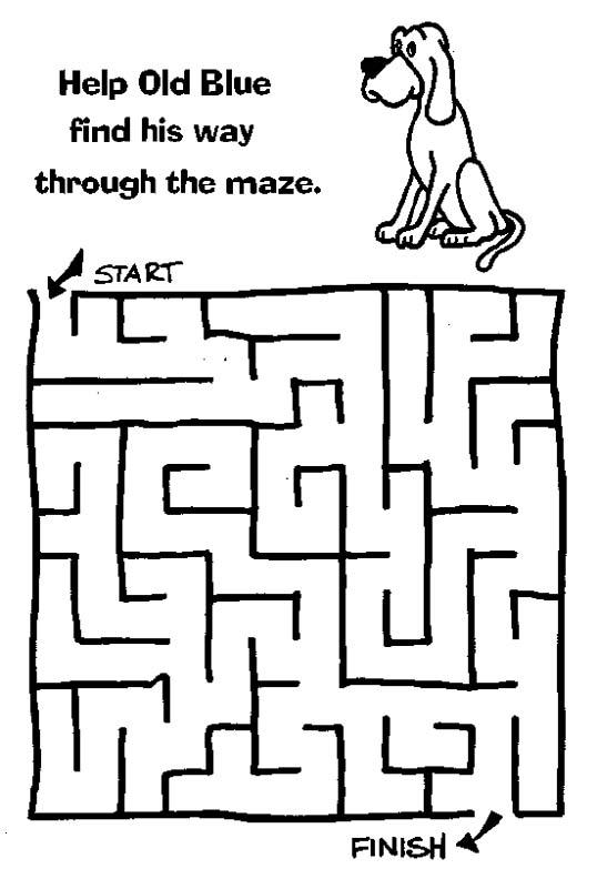 Printable Mazes Print this printable maze.