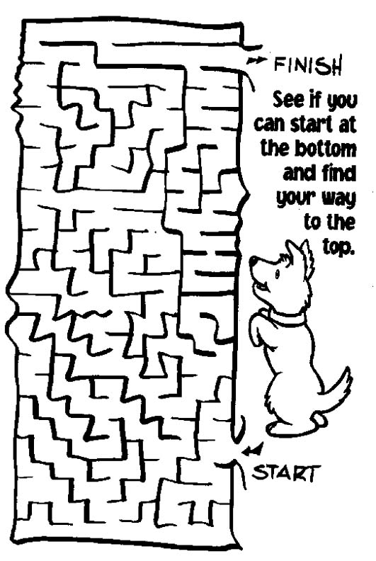 Printable Mazes - Print your Maze Dog puzzle | All Kids Network