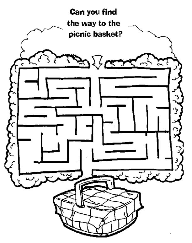 Picnic Basket Coloring Page Coloring Pages Activities