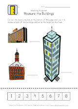 measuring buildings worksheet
