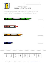 measuring crayons worksheet