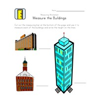 measuring worksheet buildings