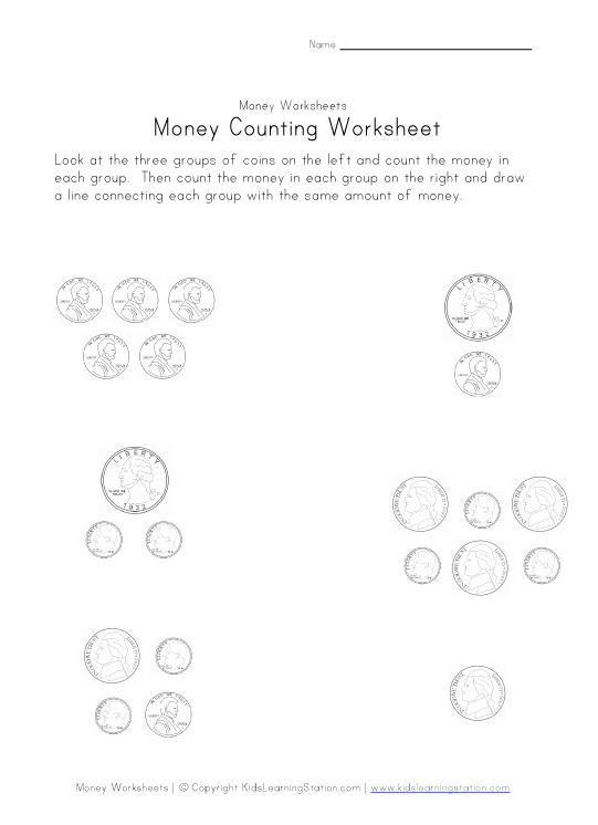 kids coin matching