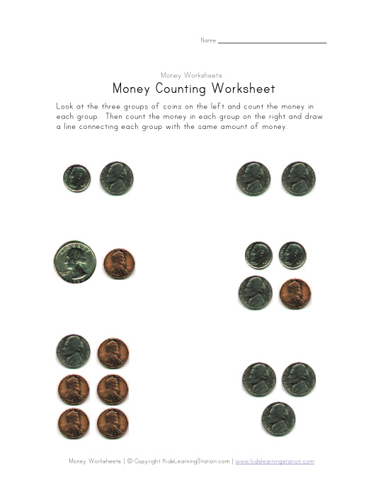 money amounts worksheet three