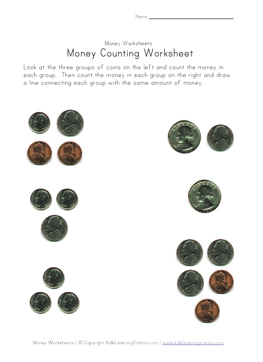 money amounts worksheet four