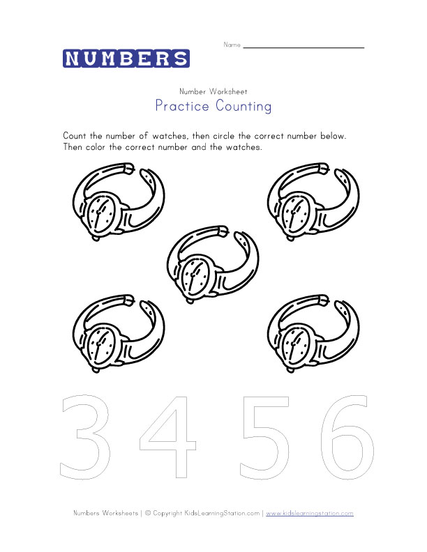 Number Coloring Pages : Number Worksheets : Preschool Number