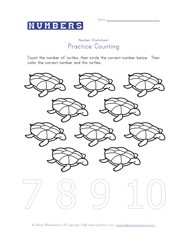 Preschool Worksheet Printables Counting And Number Recognition. Worksheet. Worksheet Number Recognition At Clickcart.co