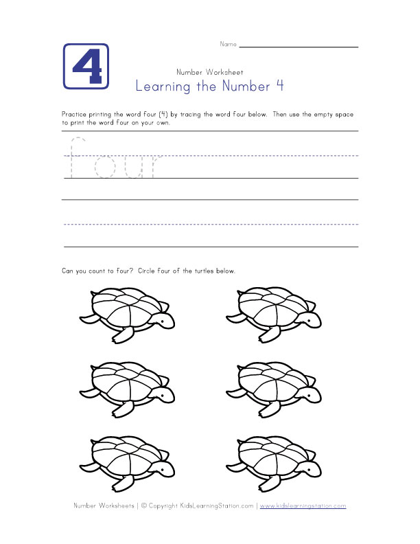 Learning Number 4