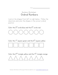 Ordinal Numbers Worksheets | Kids Learning Station