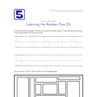 Learning Number Five
