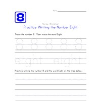 Writing Number Eight 8