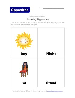 math worksheet : children s opposites worksheet  k5 worksheets : Opposites Worksheets Kindergarten