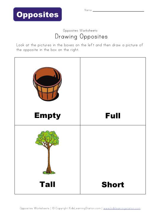 Kindergarten Opposites Worksheet Opposites Kindergarten – Opposites Worksheet Kindergarten
