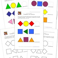 easy pattern worksheets