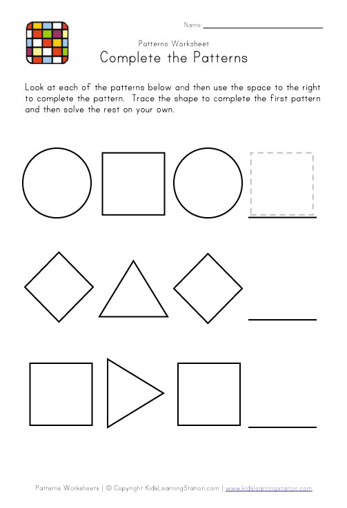 printable preschool patterns pages view and print your easy preschool ...