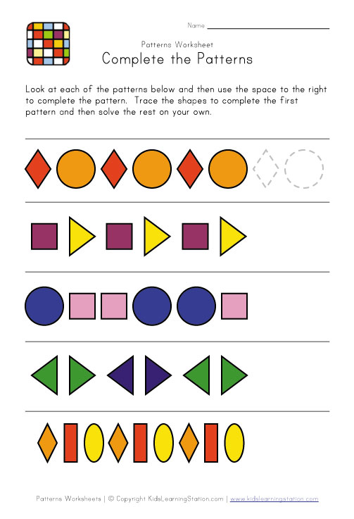 Finish The Pattern | Patterns Gallery