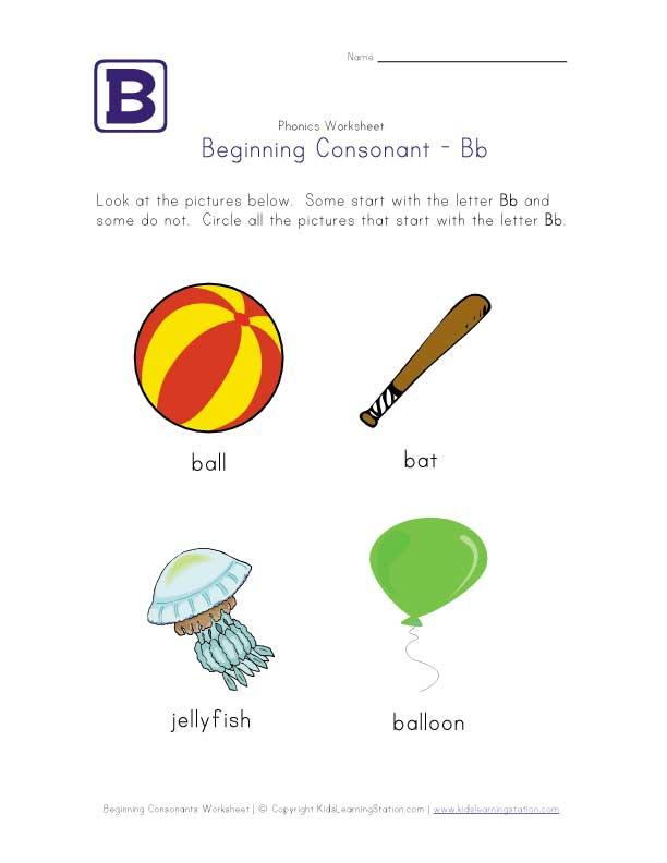 Beginning Phonics Worksheets for Kindergarten - DopePicz
