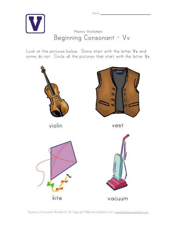 Beginning Consonants Letter L Worksheet: Printable Pre K Worksheets ...