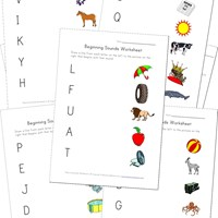 matching beginning sounds worksheets