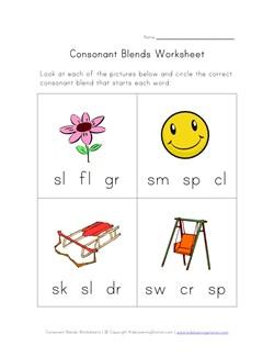 math worksheet : beginning consonant blends worksheet  three of four  kids  : Blend Worksheets Kindergarten