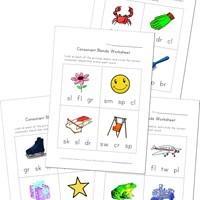 math worksheet : consonant blend worksheets  kids learning station : Kindergarten Blends Worksheets