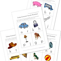 Ending Consonants Worksheets | Kids Learning Station