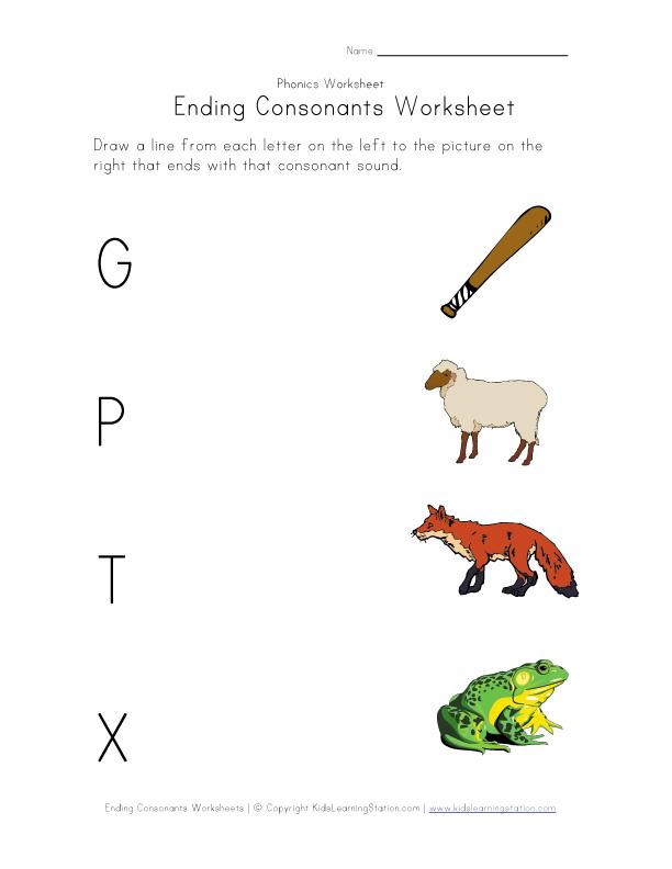 Printable Worksheets ending consonant blends worksheets : Ending Consonant Blends Worksheets - Checks Worksheet