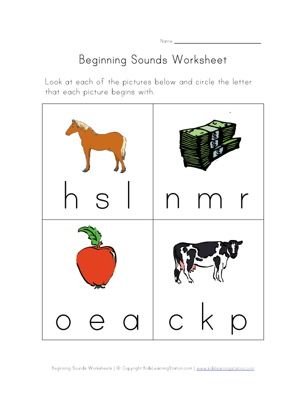 NEW 838 PHONICS WORKSHEETS BEGINNING AND ENDING SOUNDS | vowel ...