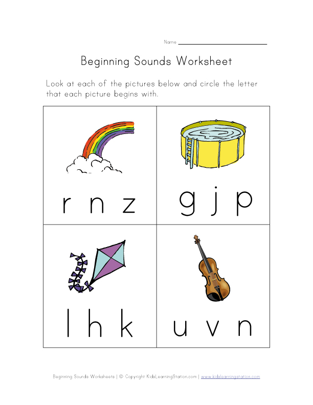 beginning sounds worksheet 6