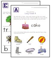 long vowel worksheets