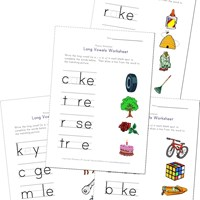 math worksheet : long vowel worksheets  kids learning station : Long Vowel Worksheets For Kindergarten