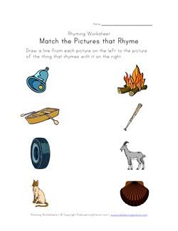 math worksheet : rhyming worksheets  phonics for kids  kids learning station : Rhyming Worksheets For Kindergarten