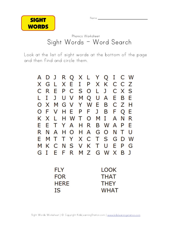 Station recognition  Recognition Word Sight Worksheets word  Learning sight  worksheets Kids