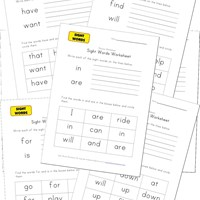 teaching sight words worksheets