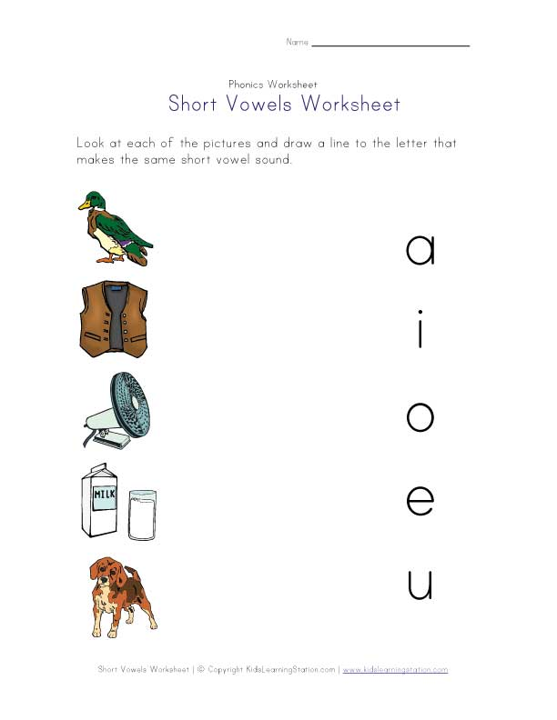 short vowel words